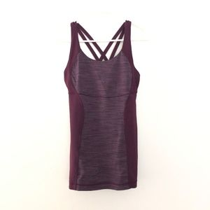 Lululemon 6 Athletic Tank Top Built in Bra Purple